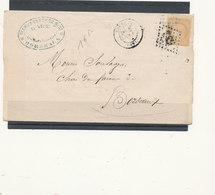 N°59  SUR LETTRE - 1871-1875 Ceres