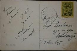 O) 1930 LATVIA, ARMS AND STARS FOR VIDZEME KUERZEME AND LATGALE, POSTAL  CARD XF - Latvia