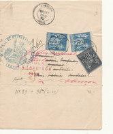 N°89/90 LETTRE RECOMMANDEE - 1876-1898 Sage (Type II)