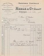 Facture Papeterie Centrale ( Gaudy ) MERLE & Cie  à SAINT JUNIEN  87 - 1900 – 1949