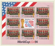 St.Vincent And The Grenadines 1994 FIFA World Cup Football In The USA Souvenir Sheet MNH/** - Spain (H45) - World Cup