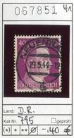 Deutsches Reich - Deutschland - Allemagne - Michel 795 - Oo Oblit. Used Gebruikt - Adolf Hitler - Used Stamps