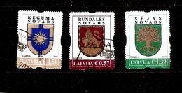 Latvia 2018 - KEGUMS, RUNDALE , SEJA  - LATVIAN  REGION LOGO STAMP SET  Used (0) - Letland