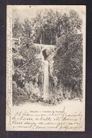 CPA 83 - BARJOLS - Fontaine De Roubaud - TB  PLAN EDIFICE NATUREL Cascade + TB Oblitération Verso 1903 - Barjols