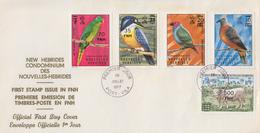 Enveloppe  FDC  1er Jour   NOUVELLES  HEBRIDES   Faune   Timbres  Surchargés  1977 - FDC