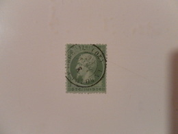 FRANCE  YT20 TYPE NAPOLEON III  Empire Franc. . 5c. Vert Cachet à Date LA ROCHELLE 03/01/1866 - 1862 Napoléon III