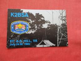 Non Mailable  K2BSA  Boy Scout Jamboree 1985  Hill Va.  Ref 3212 - Scoutisme