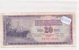 Numismatique -B3549 -Yougoslavie 20 Dinara 1974 ( Catégorie,  Nature état ... Se Référer Au Double Scan)-Envoi Gratuit - Banknotes