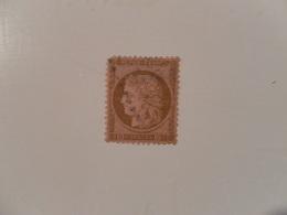 FRANCE  YT54 TYPE CERES Dentelée 10c. Brun S. Rose  Losange - 1870 Siege Of Paris