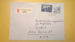 1987 BUSTA SVIZZERA HELVETIA RACCOMANDATA PER BERLINO ANNULLO LA GOTTAZ BOLLO ASTROLOGIA ASTROLOGY - Svizzera
