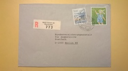 1989 BUSTA SVIZZERA HELVETIA RACCOMANDATA PER BERLINO ANNULLO ZURICH BOLLO ASTROLOGIA ASTROLOGY - Svizzera