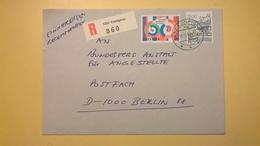 1989 BUSTA SVIZZERA HELVETIA RACCOMANDATA PER BERLINO ANNULLO CONFIGNO BOLLO ASTROLOGIA ASTROLOGY - Storia Postale