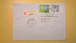 1989 BUSTA SVIZZERA HELVETIA RACCOMANDATA PER BERLINO ANNULLO LENGNAV BOLLO ASTROLOGIA ASTROLOGY - Svizzera