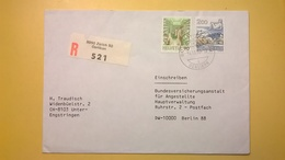 1990 BUSTA SVIZZERA HELVETIA RACCOMANDATA PER BERLINO ANNULLO ZURICH BOLLO ASTROLOGIA ASTROLOGY - Svizzera