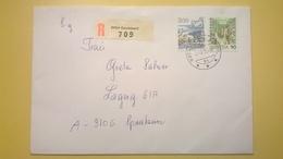 1990 BUSTA SVIZZERA HELVETIA RACCOMANDATA PER BERLINO ANNULLO GERALDSWIL BOLLO ASTROLOGIA ASTROLOGY - Schweiz