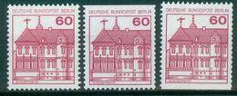 Berlin 1979 / MiNr.   611 A , C , D   ** / MNH   (r947) - Ongebruikt