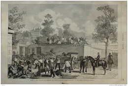 Paris - Les Travaux De Défense Aux Fortifications  - Page Original 1870 - Documents Historiques
