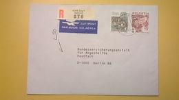 1992 BUSTA SVIZZERA HELVETIA RACCOMANDATA PER BERLINO ANNULLO ZUG BOLLO ASTROLOGIA ASTROLOGY - Storia Postale
