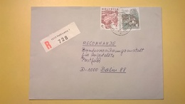 1992 BUSTA SVIZZERA HELVETIA RACCOMANDATA PER BERLINO ANNULLO PETIT LANCY BOLLO ASTROLOGIA ASTROLOGY - Storia Postale