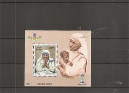 Mère Teresa ( BF 7 XXX -MNH- De L'Inde) - Mother Teresa