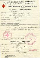 1941- Message Croix Rouge  De Paris Pour La Roumanie  - - 2. Weltkrieg 1939-1945