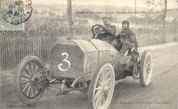 *CIRCUIT D'AUVERGNE. COUPE GORDON BENNETT 1905. N°3 JENATZY ( MERCEDES ) ALLEMAGNE - Bus & Autocars