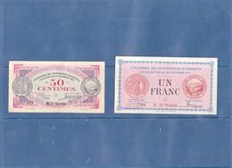 74 - ANNECY - 2 Billets De La CHAMBRE DE COMMERCE - 1Frs 1917 Et 0,50 Cts 1920 - Frais De Port Gratuits - Chambre De Commerce