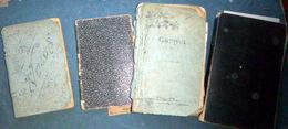 MANUSCRIT GRANDE GUERRE 4 CARNETS D'UN POILU DU 104° R A L 1917 /1919  OBUS AVIONS BARBELES TRANCHEES - 1939-45
