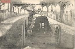 *CIRCUIT D'AUVERGNE. COUPE GORDON BENNETT 1905. N°18 TRACY ( LOCOMOBILE ) AMERIQUE - Bus & Autocars