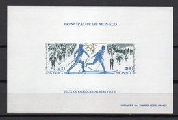 - MONACO Bloc Spécial N° 15a Neuf ** NON DENTELÉ - Jeux Olympiques ALBERTVILLE 1992 - - Blocs