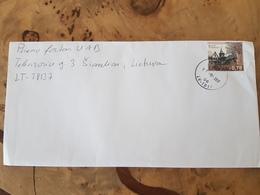 Latvia  Cover Sent To Lithuania 2017 Europa  Castle Cesvaines - Letonia