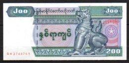 619-Myanmar Billet De 200 Kyats 2004 QH274 Neuf - Myanmar