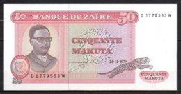 619-Zaïre Billet De 50 Makuta 1979 D177W Neuf - Zaïre