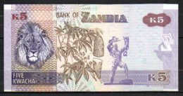 619-Zambie Billet De 5 Kwacha 2012 BD12 Neuf - Zambia
