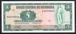 619-Nicaragua Billet De 5 Cordobas 1972 C169 Neuf - Nicaragua