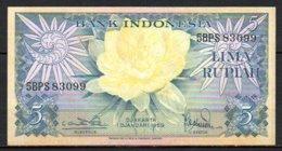 619-Indonésie Billet De 5 Rupiah 1959 5BPS830 Neuf - Indonésie