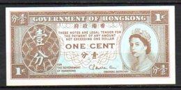 619-Hong-Kong Billet De 1c 1971-1981 Neuf - Hong Kong