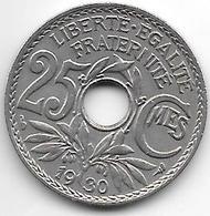 France 25 Centimes  1930  Km  867a   Xf - France