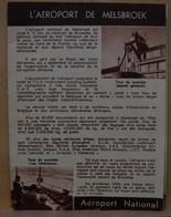 Pu. 81. Petit Feuillet Publicitaire De 8 Pages Sur L'aéroport De  Melsbroek, La Sabena, Les Avions, Visite Guidée - Advertising