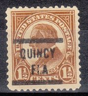 USA Precancel Vorausentwertung Preo, Locals Florida, Quincy 553-567 - Vereinigte Staaten