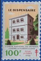 Timbre Vignette Antituberculeux   Le Dispensaire  Dimension: 9,5 X 14 Cm  Année 1952 - Erinnofilia