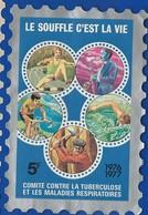 Timbre Vignette Antituberculeux   Le Souffle C'est La Vie 1976-1977   Dimension: 8 X 12 Cm   Année 1976/77 - Erinnofilia