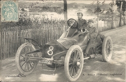 *CIRCUIT D'AUVERGNE. COUPE GORDON BENNETT 1905. N°8 ROLLS ( WOLSELEY ) ANGLETERRE - Bus & Autocars