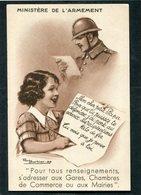 CPA - Illustration Barbier - MINISTERE DE L'ARMEMENT - Mon Cher Petit Papa, Pour Que Tu Puisses Te Défendre... - War 1914-18