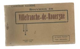 Cp , 12 , Souvenir De VILLEFRANCHE DE ROUERGUE, L'Aveyron Illustré , Ed. Poux , Carnet De 10 Cartes Postales - Villefranche De Rouergue