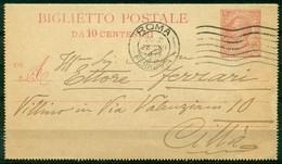V8539 ITALIA REGNO 1918 Biglietto Postale 10 C., Fil. B11, Interitalia 13, Senza Francobolli Aggiunti, Da Roma 23.XII.18 - 1900-44 Vittorio Emanuele III