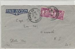 Gandon Par Avion Pour Le Etats-Unis - Postmark Collection (Covers)