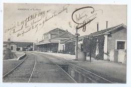 Cpa  -07  -  Annonay  -  - La Gare  -  Animation  - 1899 - Annonay