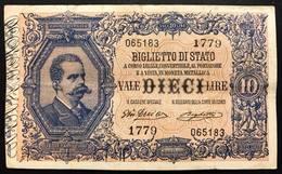 10 LIRE VITTORIO EM. III°  Dell'ara Righetti 23 04 1914 Rara BB Forellini LOTTO 427 - [ 1] …-1946 : Kingdom