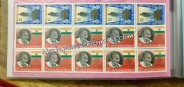 Gandhi Trinidad N Tobago Mnh Block Of 10 X Stamp Sets Complete - India Nobel People - Mahatma Gandhi